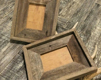 5x7 Reclaimed Wood Frame, Reclaimed Wood Frame, Reclaimed Wood, Wood Frame, Whitewashed Frame, Home Decor, Wood Frame, Rustic Home Decor