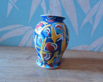 Rare Studio Ware art vase signed Jean Paul Landreau