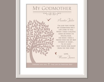 Personalized Godmother Print