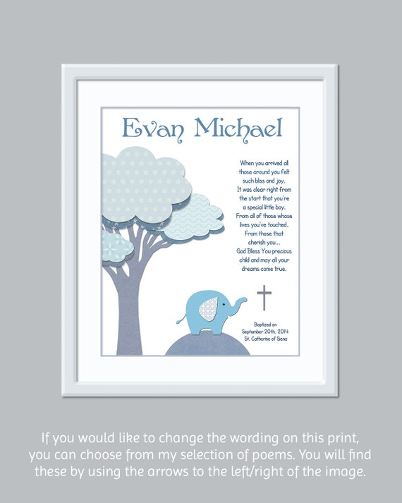 Baby Boy Gifts With Name : Boys christening gift baptism baby boy name art