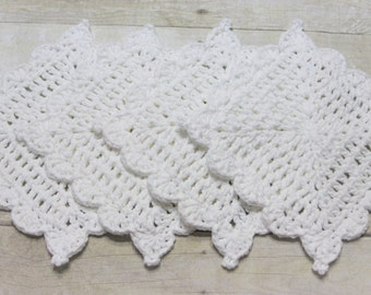 Washcloth, Dishcloth, White Cotton, Cotton Crochet, Crochet Dishcloth, Handmade Crochet, Kitchen Crochet, Wedding Gift, Housewarming Gift