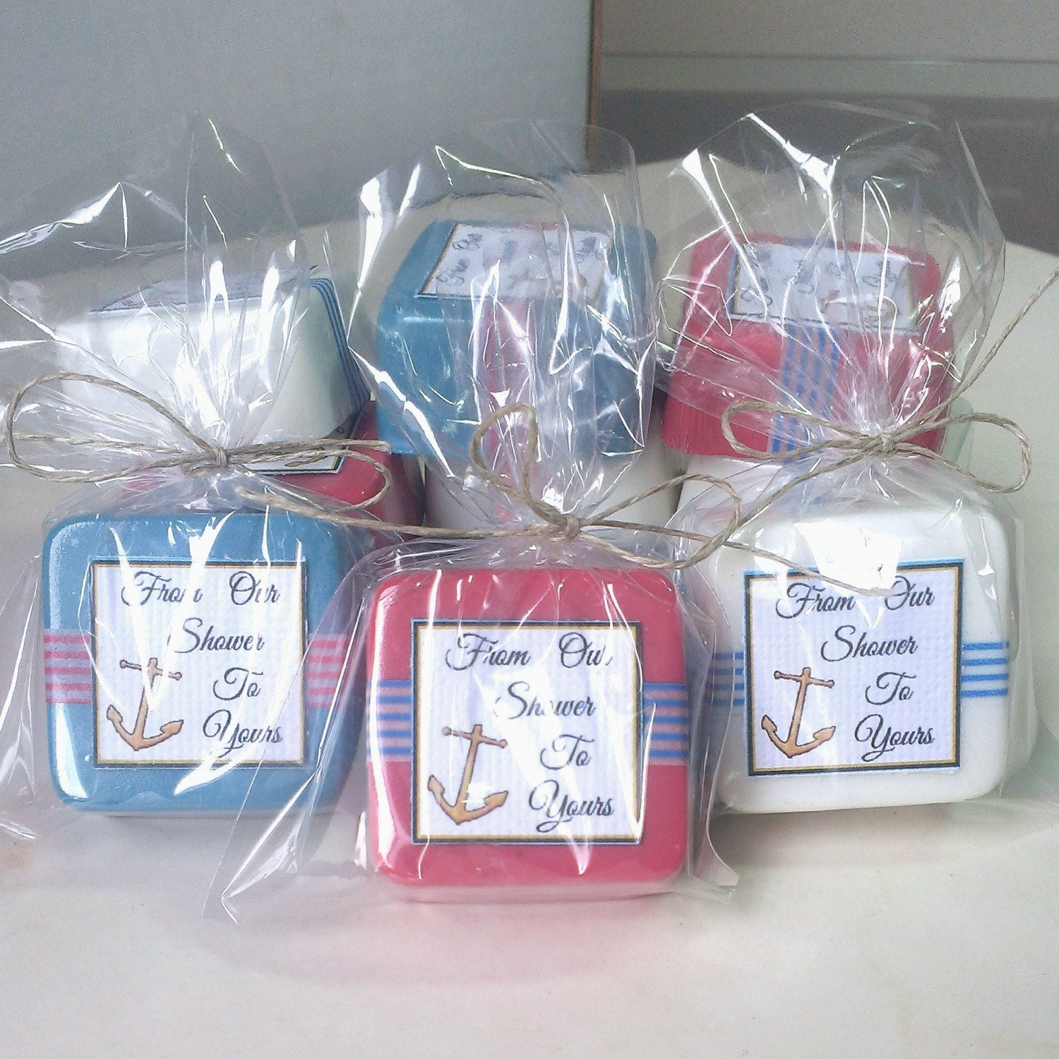 Baby Shower Favors Blue ~ Nautical baby shower favors red white and blue