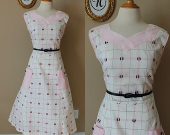 1940s ~ 40s Pink House Dress