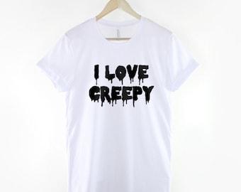 I Love Creepy Pastel Goth Halloween T-Shirt