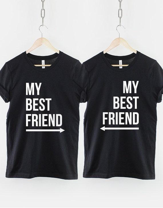 Best friends shirts 2 x my best friend t shirt twin pack for Ez custom t shirts