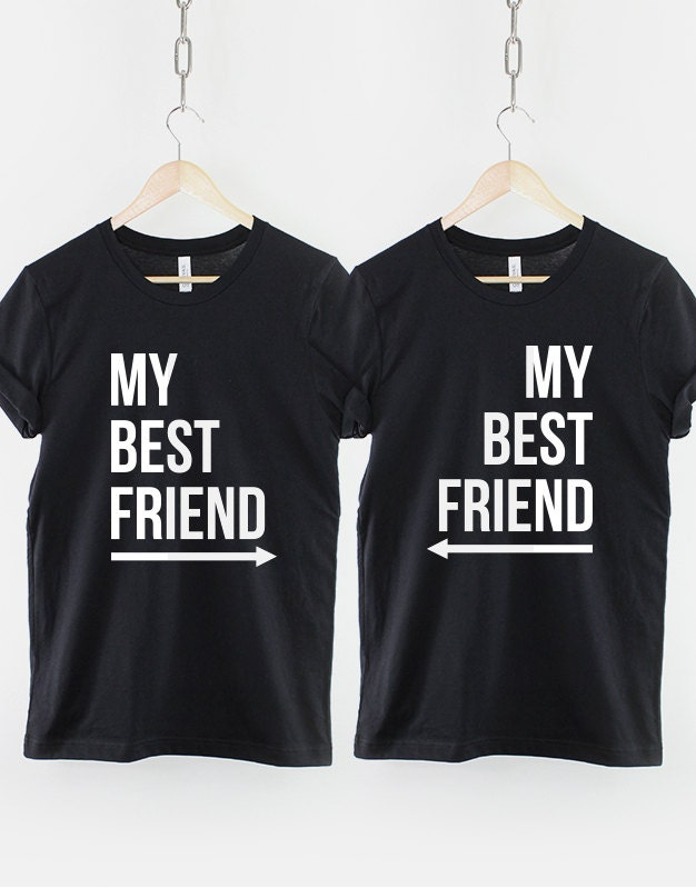 best friends shirts 2 x my best friend t shirt twin pack. Black Bedroom Furniture Sets. Home Design Ideas