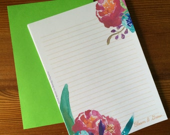 Bloom and Grow Writing Paper Stationery