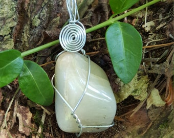 Moonstone Wire - Wrapped Pendant