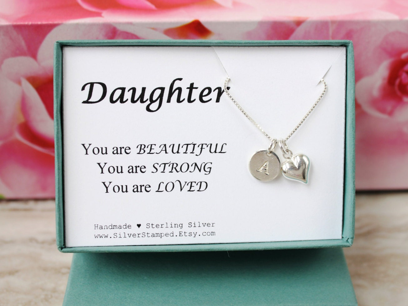 Daughter Necklace Gift For Daughter Necklace By SilverStamped