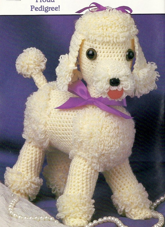 Gigi Poodle Dog Vintage Crochet Pattern 12 Toy Stuffed