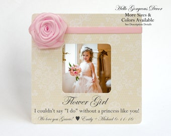 Flower Girl Frame Proposal I couldn't say I DO without You! Ask Flower Girl Gift Idea Matron Maid of Honor Picture Frame Bridesmaid Gifts