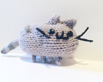 Knit Pusheen The Cat Meme Doll, Toy