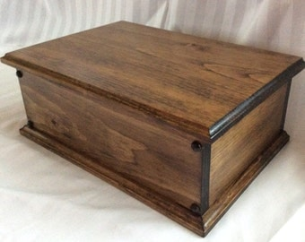 Handmade Large Wooden Keepsake Box