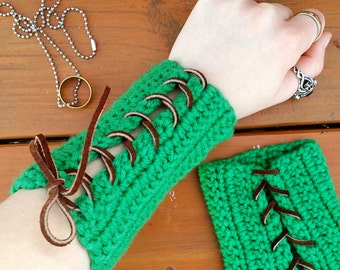 Elven Bracers | Woodland Elf Costume | Elvish Armour | LARP Armor Wrist Cuffs | Fantasy Cosplay Armor | Archery Bracer | Gauntlet Arm Guards