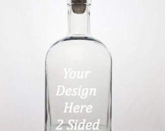 Personalized Decanter - Whiskey Decanter - Etched Decanter - Personalized Gift - Scotch Decanter - Groomsmen Gift - 2 sided