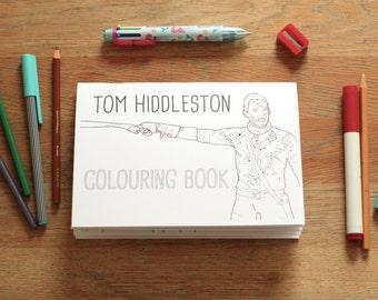 Tom Hiddleston Colouring Book