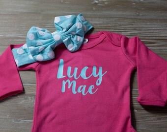 Personalized Bodysuit / Baby Photo Prop / Baby shower gift / Custom Baby Shirt / Personalized Baby Name Bodysuit