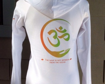 Yoga Hoodie OM Sign on White