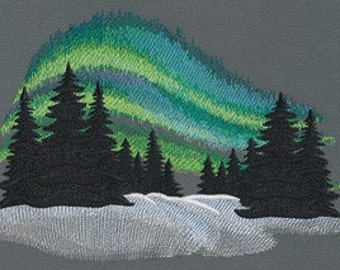 Aurora Borealis Cushion Cover Embroidered Pillow Case Northern Lights Australis