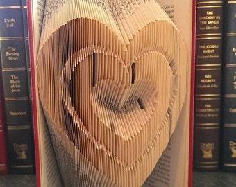3 hearts in a heart Book folding pattern