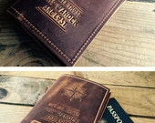 Leather Passport Cover... Leather Travel Personalized Passport Cover... Custom Leather Passport... SALE TODAY... Only 24 dollars