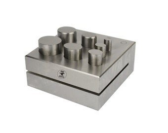 7 Piece Oval Disc Cutter Punch Tool For Stamping Blanks Gold Silver Metal Coins Jewelry Tool - FORM-0052