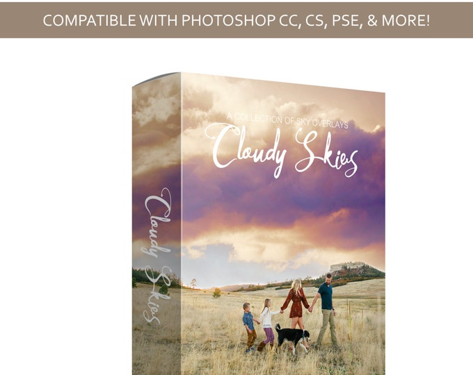 Sky Overlay Bundle - Cloudy Skies  - Cloud Overlay - Photoshop - PSD - INSTANT DOWNLOAD