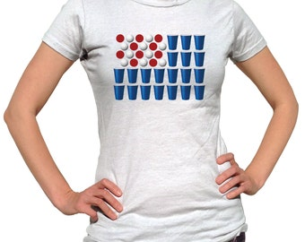 4th of July Shirt Women - 4th Of July Outfit - Beer Pong Shirt - Funny Tee - Fourth Of July Shirt - Patriotic Shirt - American Flag Clothing