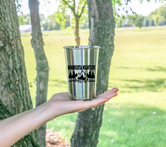Minnesota Nightlife | Any State | Stainless Steel Tumbler | 18 oz. | Outdoor Drinkware