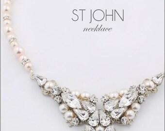 Bridal necklace - statement wedding necklace