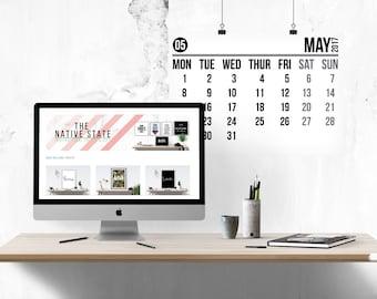 White calendar | Etsy