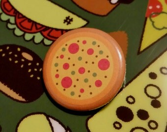 """Pizza 1.25"""" Pinback Button"""