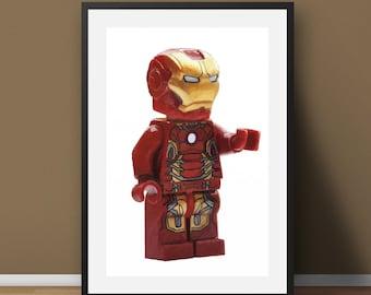 Lego Ironman - Digital Painting (A3)