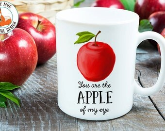Coffee Mug Apple Coffee Cup -  Apple of Me Eye Mug