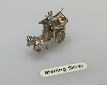 Sterling Silver Carriage Charm