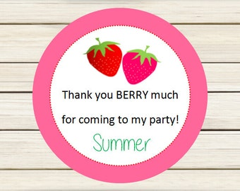 Strawberry Favor Tags - Printable