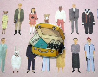 Moonrise Kingdom Brooch, Wes Anderson Brooch