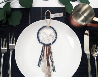 Bohemian Wedding Decor - Mini Dreamcatcher - Boho Baby Shower Favors - Modern Rustic Dream Catcher -Modern Bohemian Party Favors -Boho Decor
