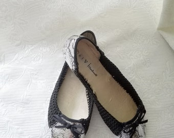 Ballet Flat Slipper Custom Shoes Glossy Shine Flats Wedding Shoes