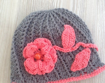 SALE,Hat,Baby Hat, Baby Flower Hat, Baby Photo Prop, Shower Gift, Welcome Home Baby Gift