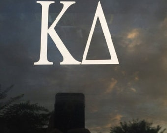 Sorority/Fraternity letter decal