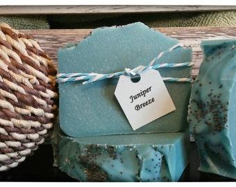 SOAP- Juniper Breeze, Handmade Soap, Cold process