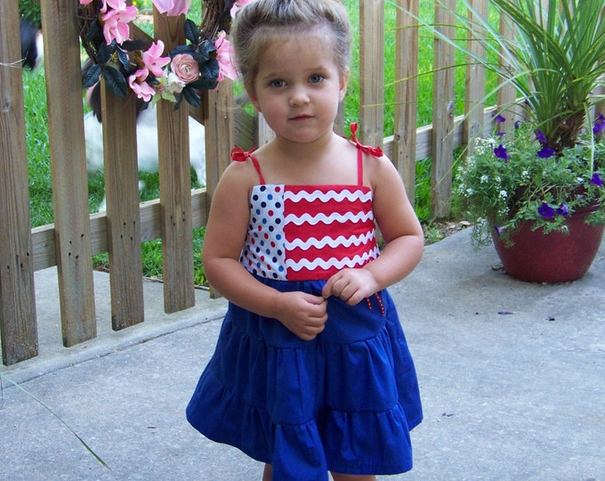 Girls 4th of July dress, Patriotic girl dress, Red, White and Blue Dress, Sibling outfits, boy 4th of July shirt, Stars and stripes dress