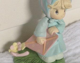 March Calendar Girl Series Precious Moments Artplastic Figure