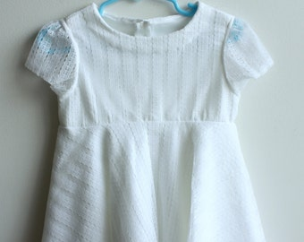 Little Girl's White Lace Tunic with Circle Skirt, Tunic Sizes 2T
