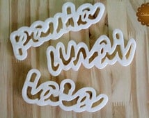 Custom Cookie Cutter with your name, Cookie mold, 3d Printing.