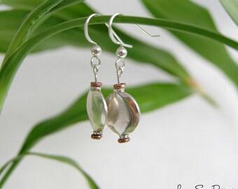 Sterling Silver & Copper Earrings, Mixed Metal Earrings, Metaphysical Jewelry, TierraCast Copper, Silver Earrings, Copper Earrings, Hippie