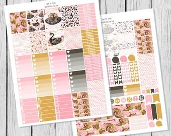Black Swan Planner Sticker Printable / Sticker Printable / Printable Planner Stickers / Weekly Planner Sticker Kit