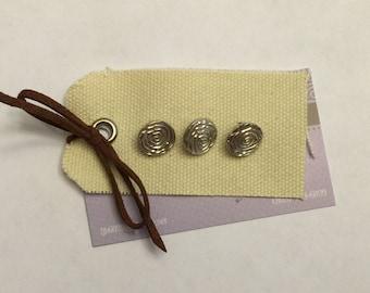 "Modern Rose - Fine Silver 1/2"" Buttons"