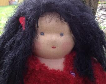 Hippie girl Agathe, OOAK Waldorf doll by Susanne Mensing-Varila (Finnteddy)